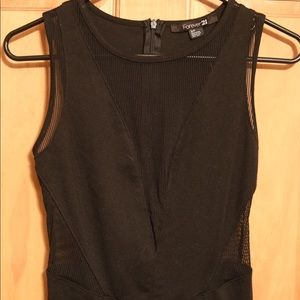 Forever21 open front and sides black dress.